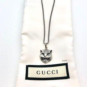 New Authentic Gucci Gatto Feline Charm Pendant